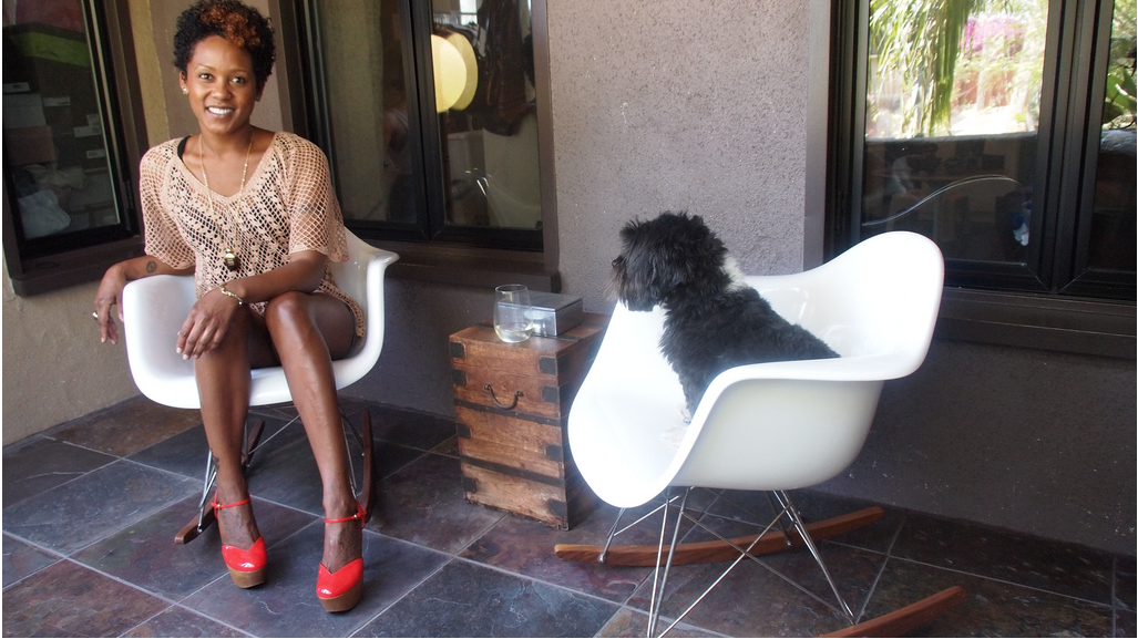 Karen Marley and her dog Boots